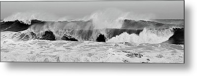 Two Waves Are Better Than One - Jersey Shore Metal Print