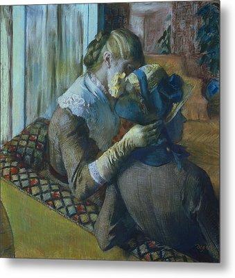 Two Women Metal Print by Edgar Degas