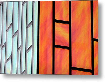 Two Worlds Collide Metal Print by Jez C Self