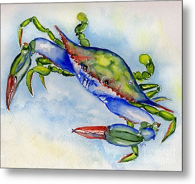 Tybee Blue Crab 2 Metal Print