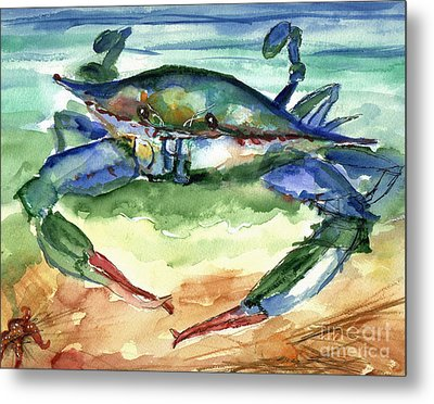 Tybee Blue Crab Metal Print