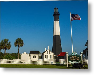 Tybee Island Lighthouse Metal Print by Michael Sussman