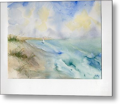 Metal Print featuring the painting Tybee Memory by Doris Blessington
