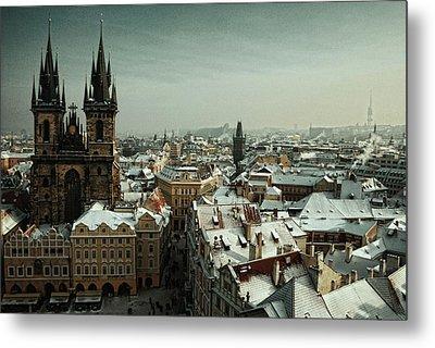 Tyn Church, Prague Metal Print by Erik T Witsoe