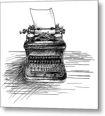 Typewriter Metal Print by Diana Ludwig