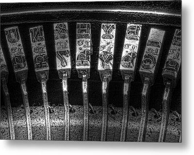 Typewriter Keys Metal Print by Tom Mc Nemar