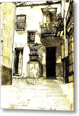 Typical Malaga Metal Print by Linda Hubbard Red Cap Art