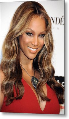 Tyra Banks At Arrivals For Keep A Child Metal Print by Everett