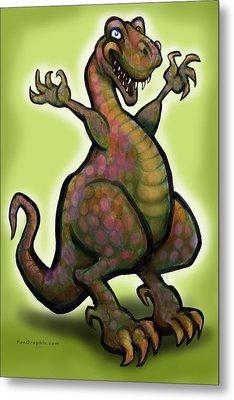 Metal Print featuring the digital art Tyrannosaurus Rex by Kevin Middleton