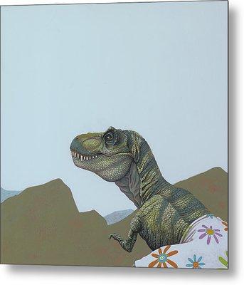 Tyranosaurus Rex Metal Print by Jasper Oostland