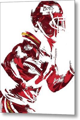 Metal Print featuring the mixed media Tyreek Hill Kansas City Chiefs Pixel Art 1 by Joe Hamilton