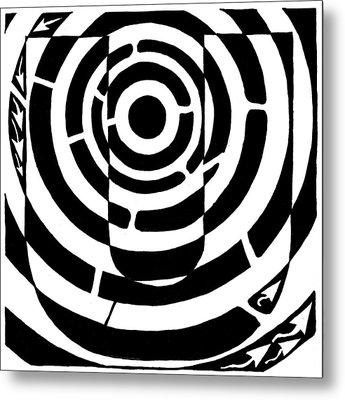 U-maze Metal Print by Yonatan Frimer Maze Artist