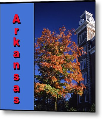 U Of A Old Main Metal Print by Curtis J Neeley Jr