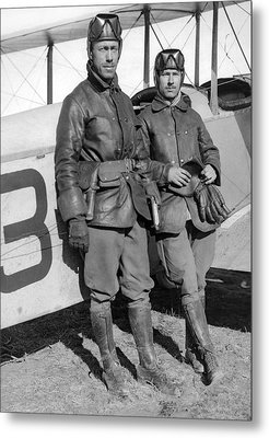 U. S. Army Aero Corps Pilots Metal Print by Underwood Archives