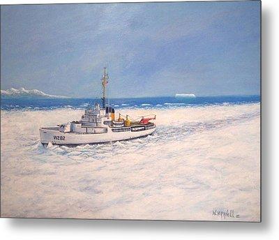 U. S. Coast Guard Icebreaker Northwind Metal Print by William H RaVell III