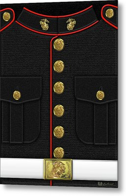 U S M C Dress Uniform Metal Print by Serge Averbukh