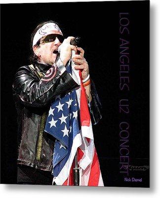 U2 Bono L.a. Concert Metal Print by Nick Diemel