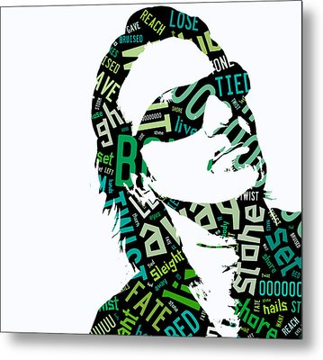 U2 Bono With Or Without You Metal Print