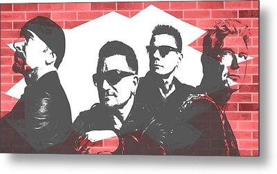 U2 Graffiti Tribute Metal Print by Dan Sproul