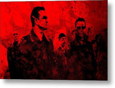 U2 Rock On Metal Print by Brian Reaves