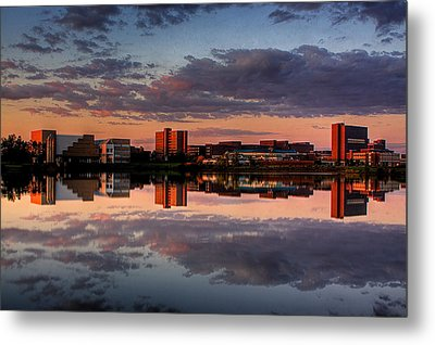 Metal Print featuring the photograph Ub Campus Across The Pond by Don Nieman
