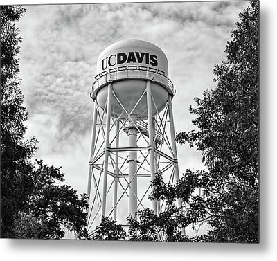 Uc Davis Water Tower Metal Print by Alessandra RC