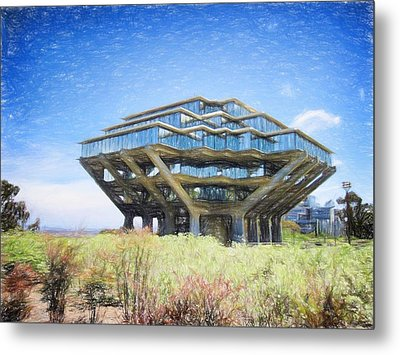 Ucsd Library Drawing Metal Print by Nancy Ingersoll