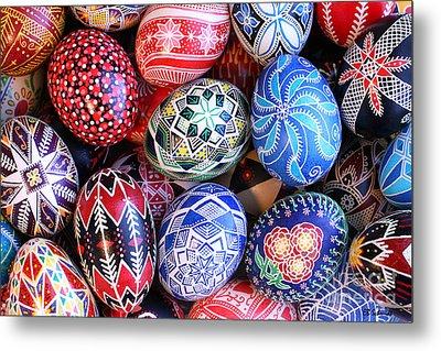 Ukrainian Easter Eggs Metal Print by E B Schmidt