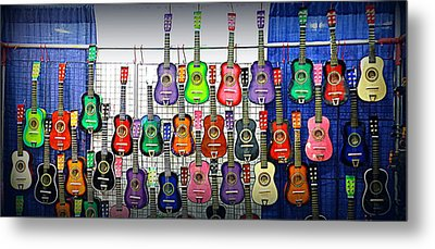 Metal Print featuring the photograph Ukuleles At The Fair by Lori Seaman