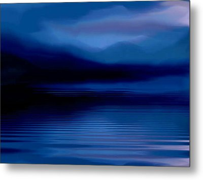 Ullswater At Dusk Metal Print by Susan  Solak