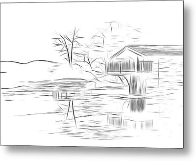 Ullswater Digital Art Metal Print by Nichola Denny