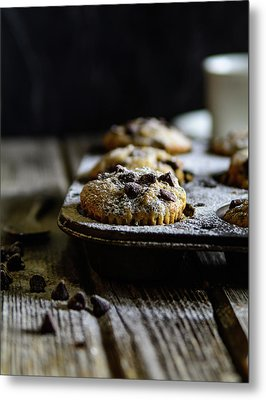 Ultimate Chocolate Chip Muffins Metal Print