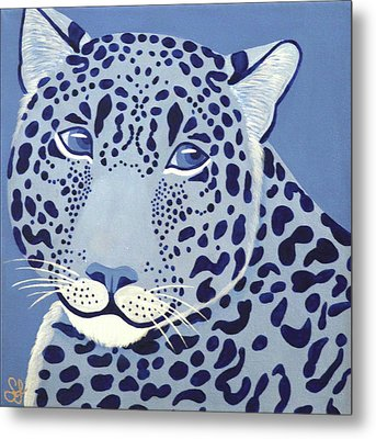 Ultramarine Jaguar Metal Print