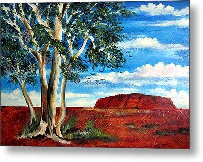 Metal Print featuring the painting Uluru Ayers Rock by Roberto Gagliardi