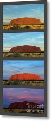Uluru Sunset Metal Print