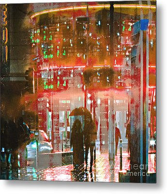 Umbrellas Are For Sharing Metal Print by LemonArt Photography