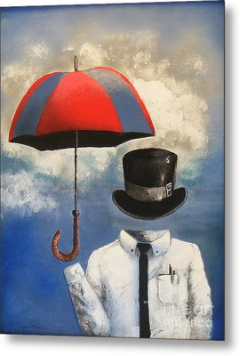 Umbrella Metal Print by Crispin  Delgado