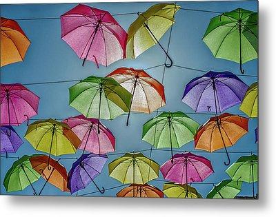 Umbrella Love Metal Print by William Ferry