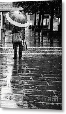 Umbrella Salesman Metal Print by HD Connelly