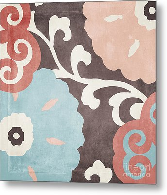 Umbrella Skies II Suzani Pattern Metal Print