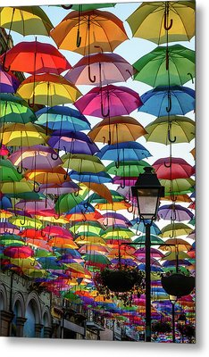 Umbrella Sky Metal Print by Marco Oliveira