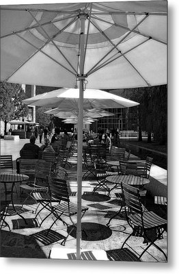 Metal Print featuring the photograph Umbrella's by Joanne Coyle