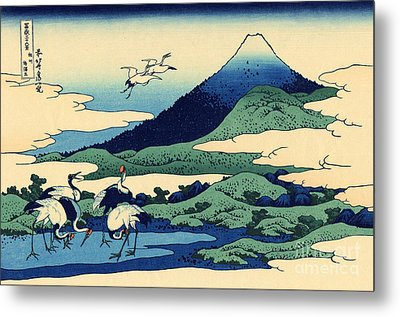 Umegawa In Sagami Province, One Of Thirty Six Views Of Mount Fuji Metal Print by Hokusai