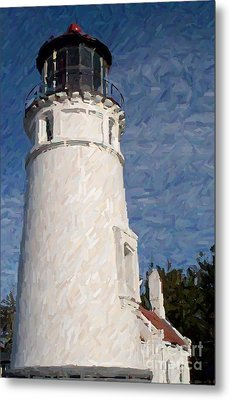 Umpqua Lighthouse Metal Print by Carol Grimes
