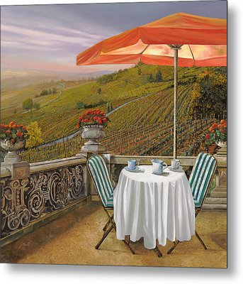 Un Caffe Metal Print by Guido Borelli
