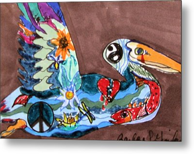 Metal Print featuring the drawing Un-rest by Barbara Giordano