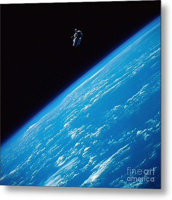 Unattached Space Walk Metal Print by Stocktrek Images