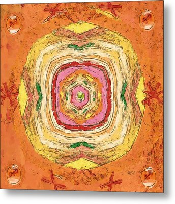 Metal Print featuring the painting Unbalanced Mandala by Shelley Bain