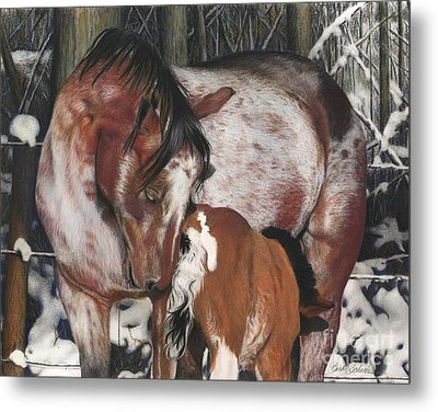 Unbreakable Bond, Pastel Metal Print