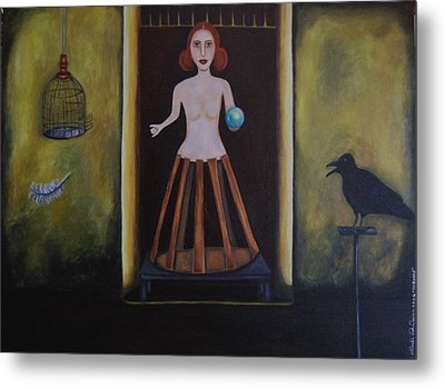 Uncaged Metal Print by Leah Saulnier The Painting Maniac